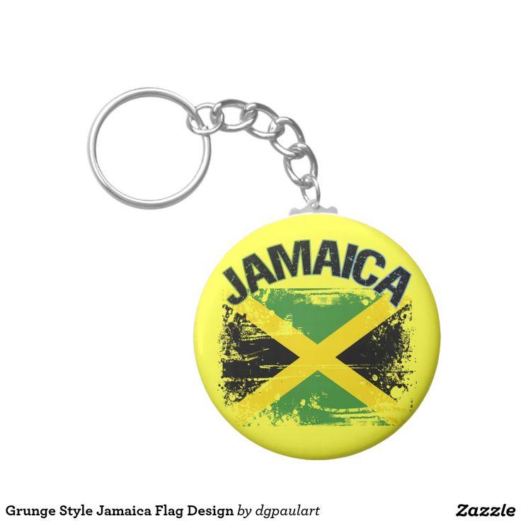 Grunge Style Jamaica Flag Design
