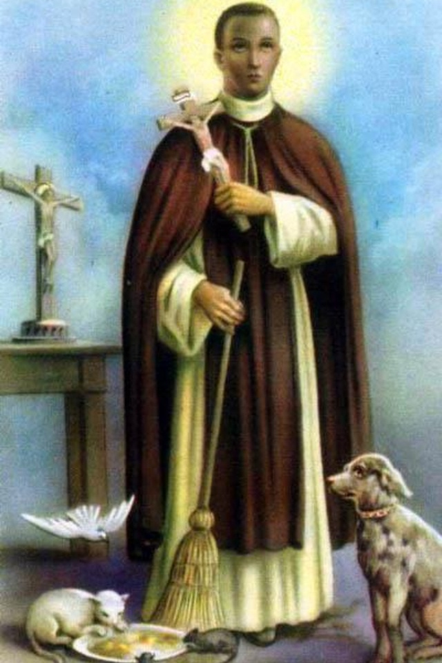 Saint Martin de Porres (December 9, 1579 – November 3, 1639) was a lay brother of the Dominican Order. He is the patron saint of mixed-race people and all those seeking interracial harmony. Feast: 	November 3