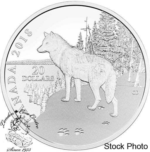 London Coin Centre Inc. - Canada: 2018 $20 Paw Prints on the Edge: Wolf  - 1 oz. Pure Silver Coin, $104.95 (http://www.londoncoincentreinc.com/canada-2018-20-paw-prints-on-the-edge-wolf-1-oz-pure-silver-coin/)