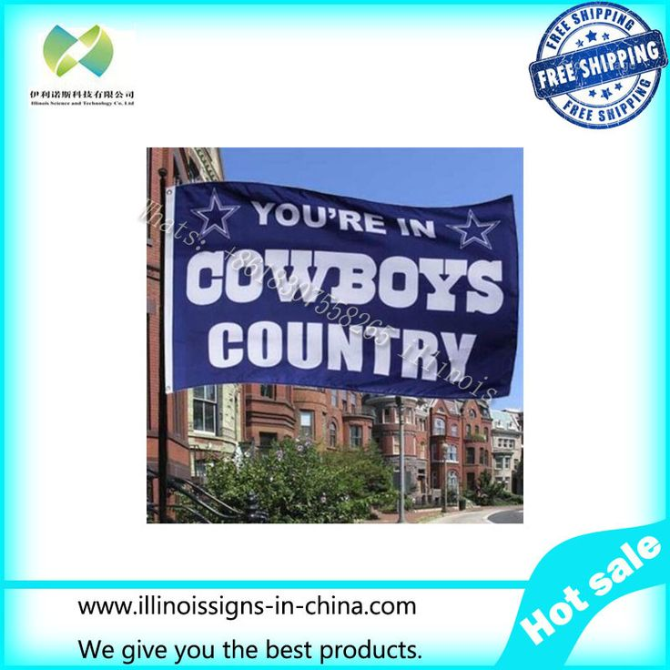 Dallas Cowboys Flag 3x5 FT Banner 100D Polyester NFL flag 005, free shipping