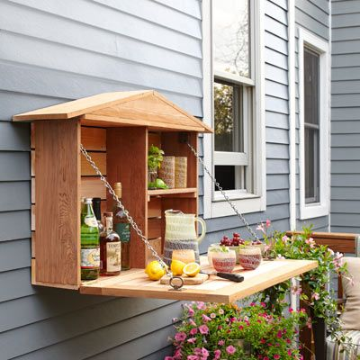 Photo: Laura Moss | thisoldhouse.com | from 32 Easy Kitchen Upgrades. Could be used for potting on side of shed.
