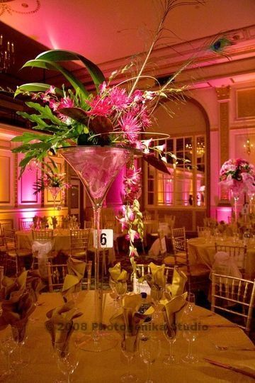 Find details of oversized martini glasses centerpieces for Buy wedding centerpieces