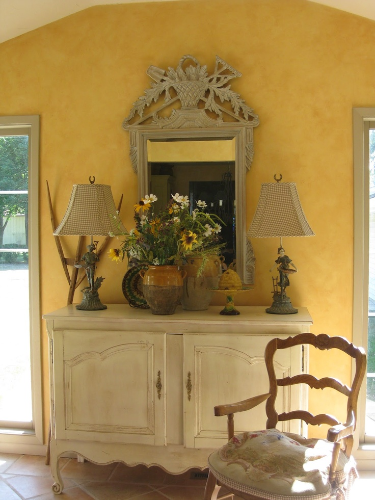 the tuscan yellow brightens and warms an interior