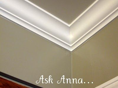 How to paint a sharp line between trim and wall...very smart idea!