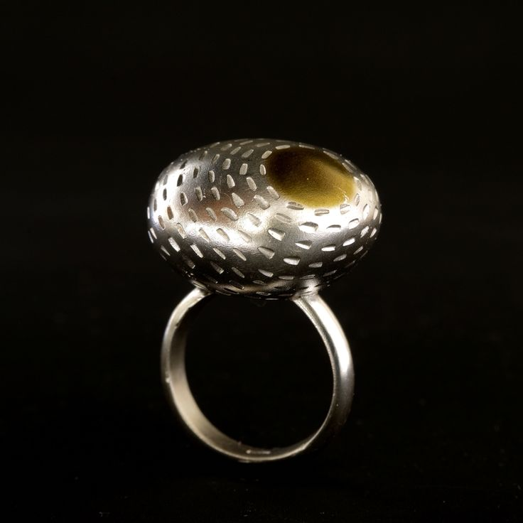Four elements ring  Material: sterling silver, gold plated