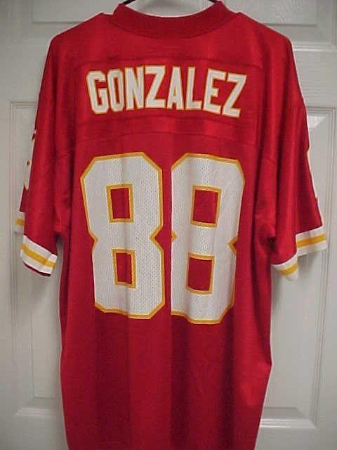 TONY GONZALEZ 88 Kansas City Chiefs Red Nylon NFL Football Jersey XL Adidas  New  Adidas  KansasCityChiefs 3f2a3c03f