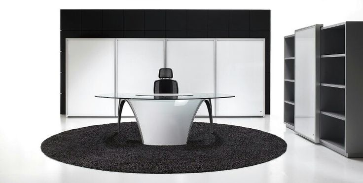Designer Office Furniture Glass Desk Italian Office Furniture