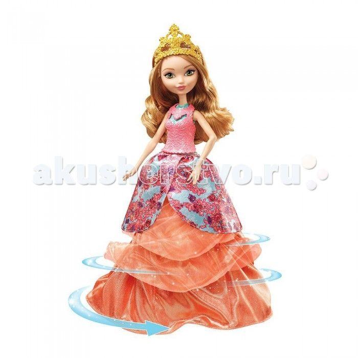 Monster High Ever After High Кукла Эшлин Элла в трансформирующемся платье 2-в-1  Кукла Эшлин Элла выполнена по мотивам детского мультипликационного сериала Ever After High в точном сходстве со своей экранной героиней. У куклы есть одна потрясающая особенность - она, словно по волшебству, способна изменять свой образ, меняя платья. В одном платье она может показаться на вечеринке с подругами, а другое предназначено для посещения бала.  Кукла выполнена по мотивам популярного мультсериала Ever…