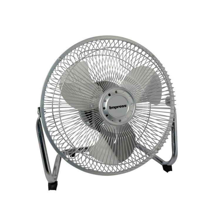 Impress 9-Inch All Metal High Velocity Fan- Silver Finish