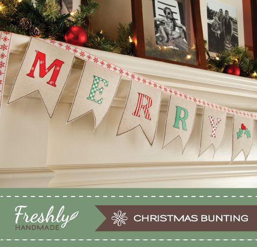 Best 25 christmas bunting ideas on pinterest diy christmas holiday tutorial from freshly handmade solutioingenieria Choice Image