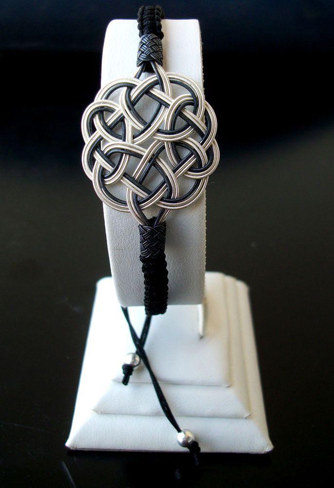 Turkish pure silver Celtic love knotted charm bracelet handmade Kazaziye Trabzon #Ebsem #Woven