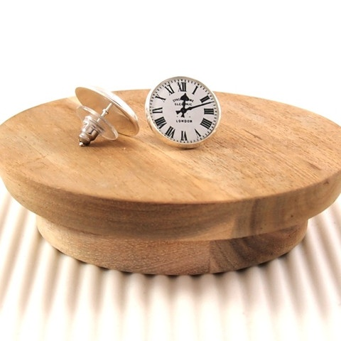 Railway Station vintage clock #handmade #earrings