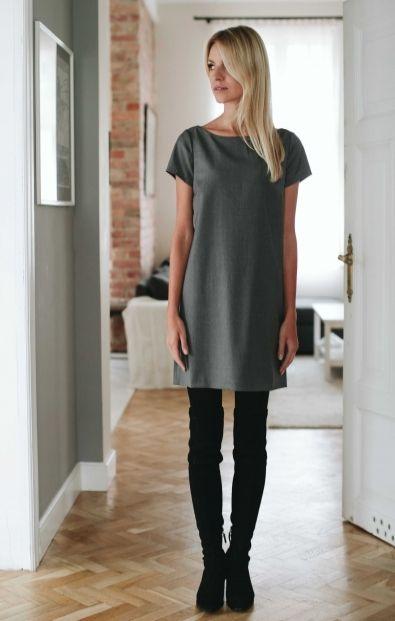 Pudełkowa sukienka - Nowości - MLE Collection