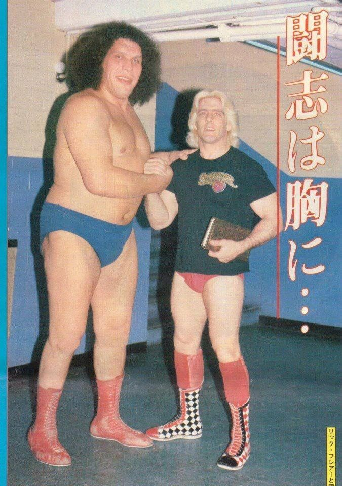 Flair and Andre the Giant