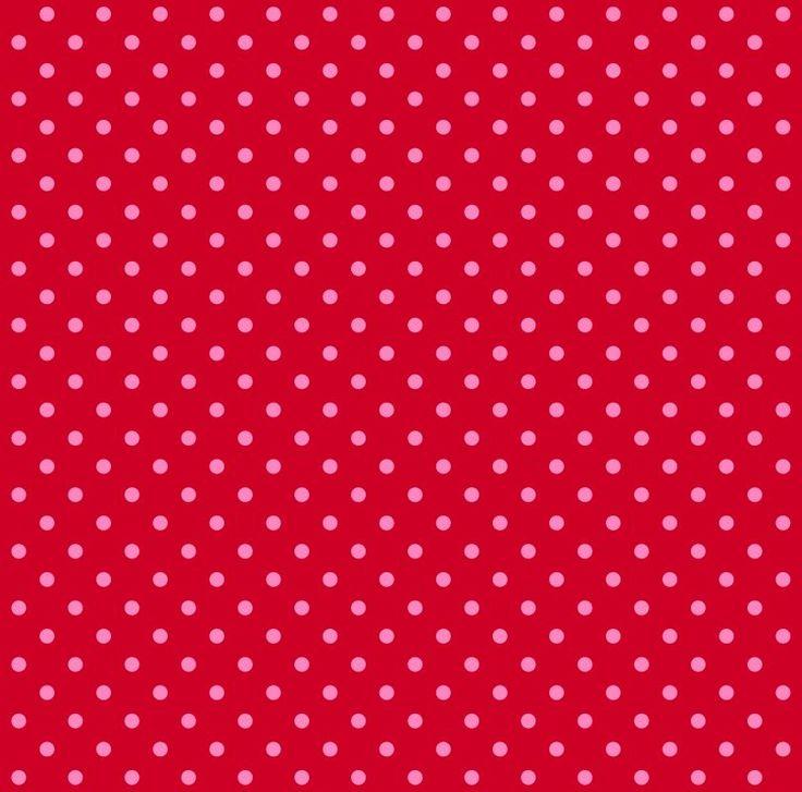 wallpaper dots pink & red ESTAhome.nl # behang stippen rood en roze