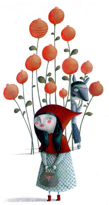 Red Riding Hood by Martina peluso: Little Red Riding Hood, Martina Peluso, Little Red, Small Chaperone, Red Riding Hoods, Red Riding Hood, Illustrations Style, Fairies Tales
