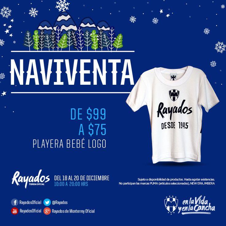 Playera para bebé con logo Rayados