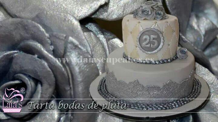 Tarta Bodas de plata (Laia's Cupcakes)