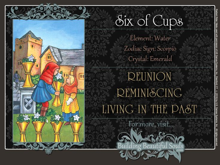 THE Six of Cups TAROT CARD MEANINGS - UPRIGHT& REVERSED! The Six of Cups Tarot includes LOVE, NUMEROLOGY, & SYMBOLS for more accurate TAROT READING.