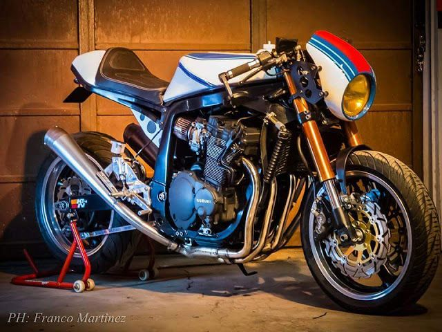 From Mendoza Argentina �Dino Cycles of � Dino Maltoni �presents us joined his owner Gustavo war is furious Suzuki GSXR 1100 (oiler) of...