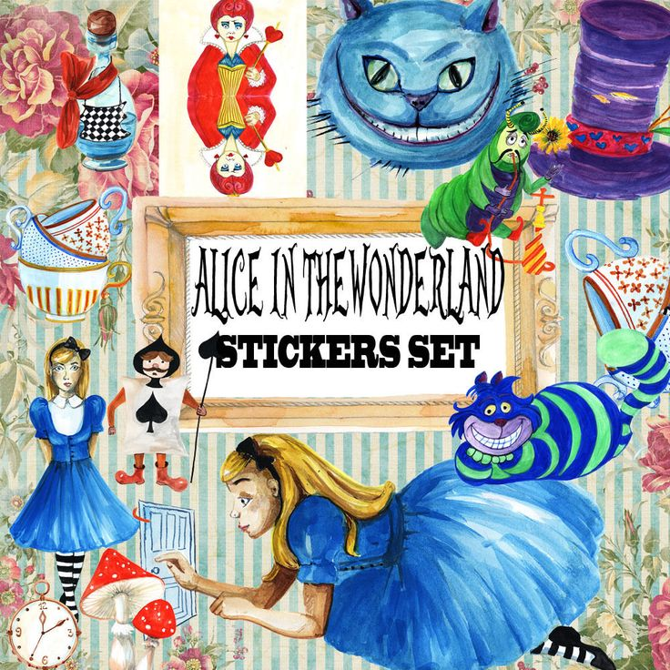 Alice in the wonderland Planner Stickers,Cute Scrapbook Decoupage embellishment
