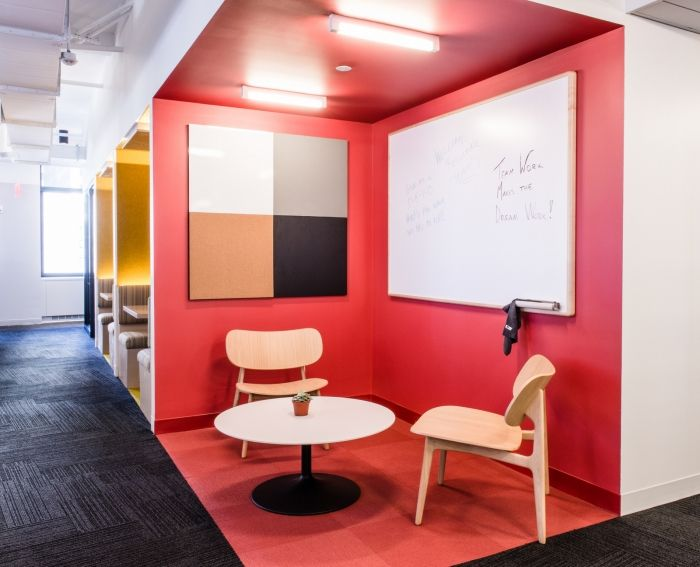 PLC Lounge Chairs from Davis Furniture in the Teach for America offices…