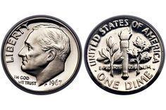 1967 Roosevelt Dime