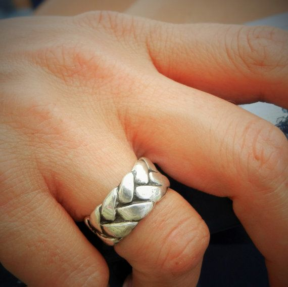 Fall Jewelry, Fall Braided Ring, Silver Braided Ring, Braid Ring, Braided Silver Ring Size 4 5 6 7 8 9 10 11 12 13 14 15 Fall Silver Ring