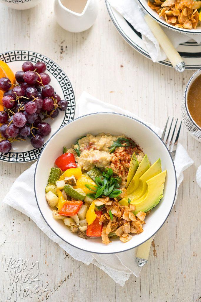 Savory Oat Breakfast Bowl A Hearty Delicious Healthy And Gluten Free Breakfast Vegan Breakfast Bowl Vegan Easy Healthy Breakfast Breakfast Bowls