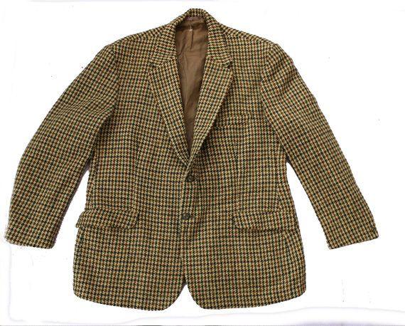 Harris Tweed Blazer Vintage - kwaliteit wol blazer - heren jas pak - grote 42 borst - Schotse eilanden Harris - levendige Tweed-jacht jasje-L