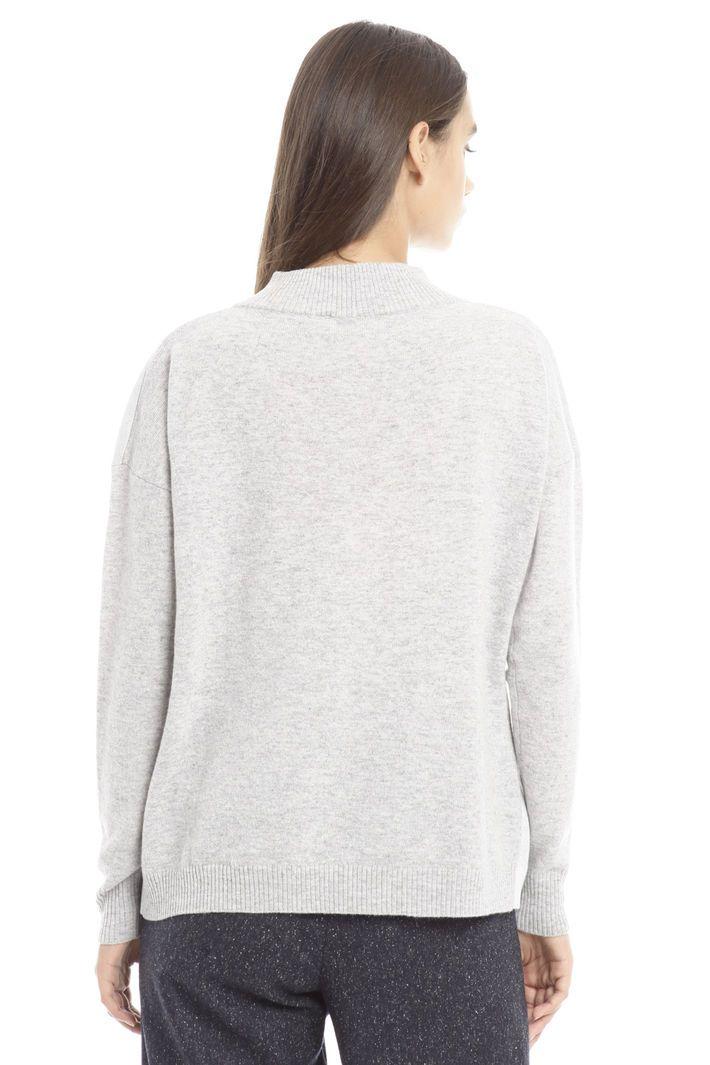 Maglia con motivo jacquard, grigio chiaro - Diffusione Tessile