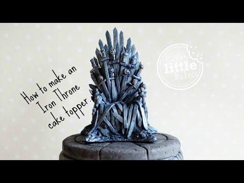 game of thrones fondant throne tutorial