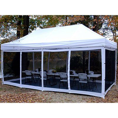 King Canopy EPA1PBS15WH 10-Feet by 15-Feet Bug Screen Room for Explorer Instant Canopy, White and Black by King Canopy. $184.95. The Instant Bug Screens is a great addition to any instant canopy. With heavy duty mesh walls this unit is sure to keep the bugs out of your canopy.. The Explorer Bug Screen Walls are a great accessory to any outdoor event, 2-packs need to fully enclose a 10-Feet by 15-Feet Instant Canopy.