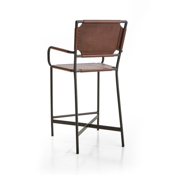 Laredo Brown Leather Dining Chair: Laredo Brown Leather Counter Stool