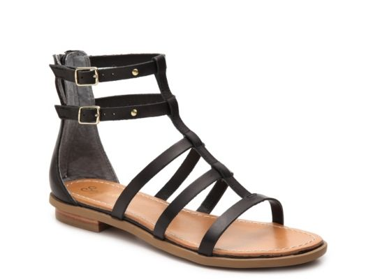 Women's Seychelles Peachy Gladiator Sandal - Black