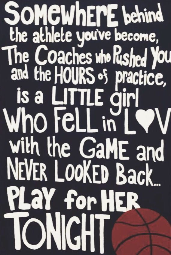 Senior Basketball Quote- Girls Basketball. Beautiful quote ...
