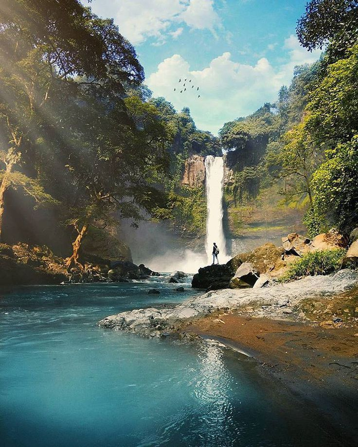 A hiddeon paradise in the middle of East Java, Coban Baung waterfall, Indonesia   Photo by: Didin  IG: @didin_emelu