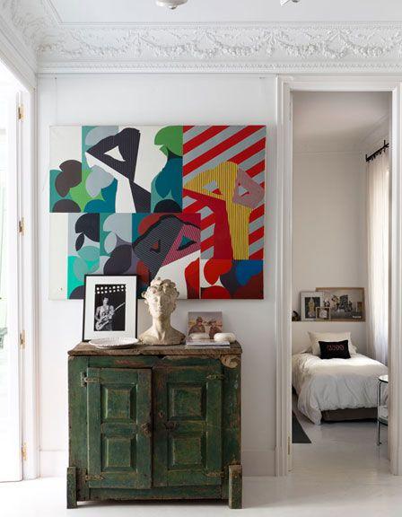 Laboratorio de ideas. La casa donde María Lladó da rienda suelta a su creatividad http://www.muudmag.com/spa/pagina/357-casa-Maria-Llado-Madrid FOTOS: Enrique Menossi
