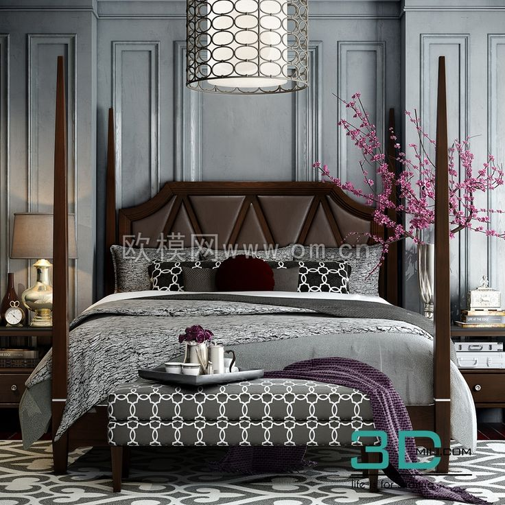 cool 255. Bed 3D model Download here: http://3dmili.com/furniture/bed/255-bed-3d-model.html