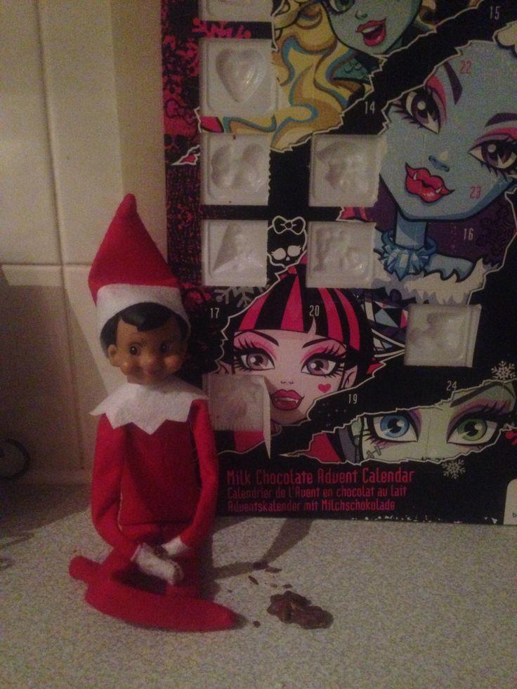 Opening my advent calendar!