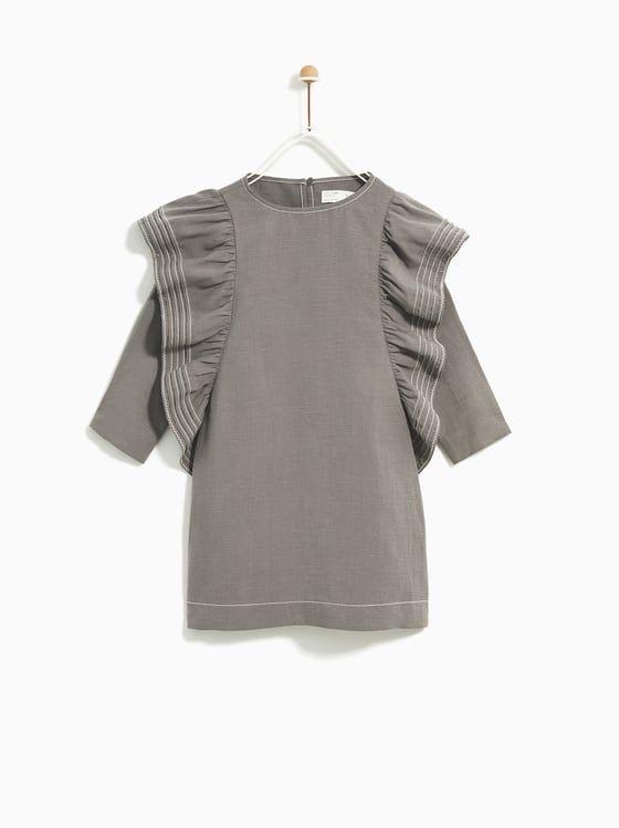 0e101587024b ZARA - KIDS - RUFFLED DRESS