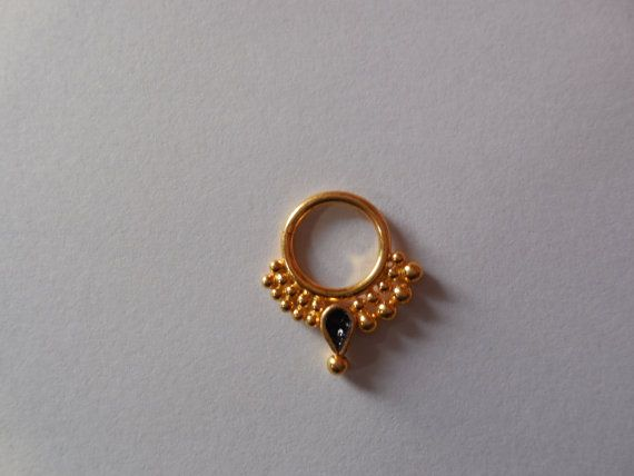 Gold filled Septum ring for pierced by Gemstonebeadsfinding