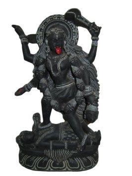 Amazon.com: Kali Statue- Kali Mata Sculptures Handmade Hindu Goddess Statue in Angry Pose: Home & Kitchen