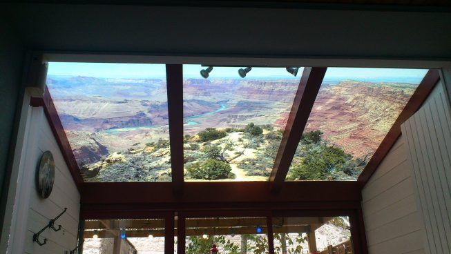 Réalisation d'un ciel de veranda en film adhésif diffusant