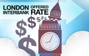 El London Interbank Offered Rate es el promedio de las tasas de interés estimadas por cada uno de los principales bancos en Londres, que sería cobra o cargado si se tomara dinero prestado de otros bancos. Por lo general es abreviado como Libor  o LIBOR, o más oficialmente como ICE LIBOR (por Intercontinental Exchange Libor).