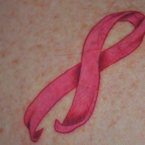 If it has to be a pink ribbon, at least make it a cool one.