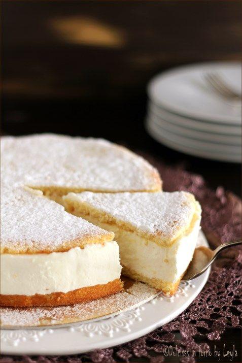 Torta alla ricotta o Käsesahnetorte: elegante, delicata e facile da preparare ! #torta #cake #ricotta #quark #panna