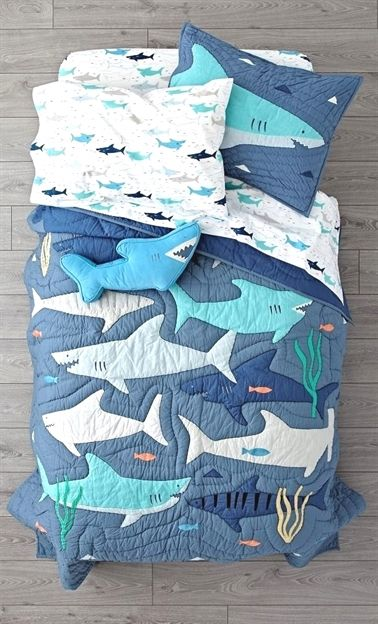 shark bait bedding  shark decor shark bedding kid room