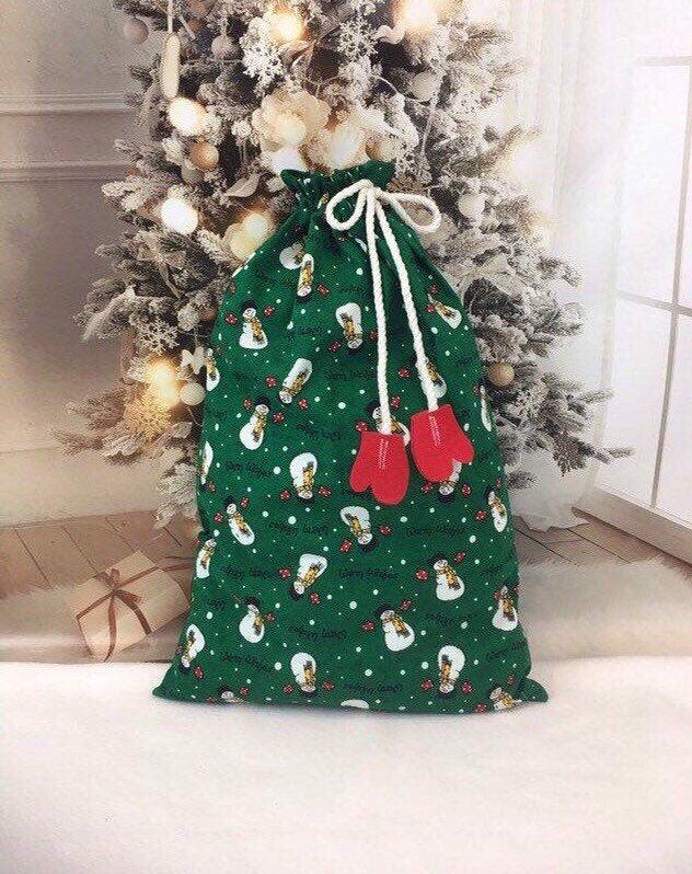 Christmas Holiday Gift Bag cotton reusable items