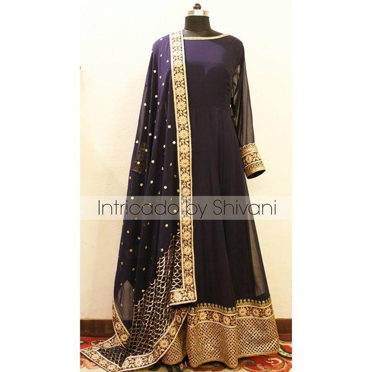 To order/customize/ enquiry, email at shivani@intricado.com or Inbox on Facebook page www.facebook.com/intricado or Whatsapp at +918527463626 #sequins #couture #anarkali #blueanarkali #indianbridal #indianwedding #indiancouture #indianethnic #wedding #indianbride #delhiwedding #hinduwedding #punjabiwedding #fashionblogger #indianfashionblogger #indiandesigner #delhi #indianjewellery #intricadobyshivani #desibride #shaadi #zardozi #kundan #gotapatti #USA #UK #australia #canada #ootd